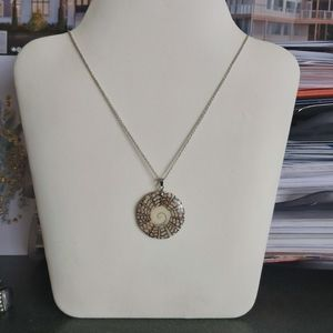 Shell Pendant with Sterling Silver Chain